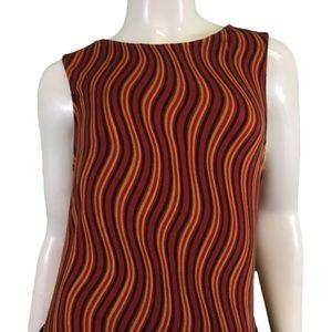 NWT Butterfly Zebra Red/Orange Dress